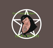 Get a Taste of Religion...LICK A WITCH Womens Fitted T-Shirt