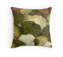 Broccolli & Cauliflower Anyone? Throw Pillow