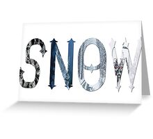 Dymond Speers SNOW Greeting Card