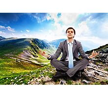 Businessman relaxing in the nature Photographic Print