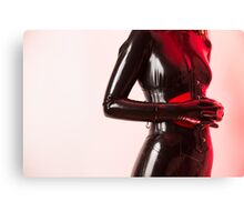 Project L: Red pose Canvas Print