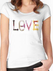 Dymond Speers LOVE Women's Fitted Scoop T-Shirt