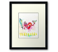 The Attack Heart. Framed Print