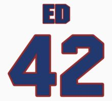 National football player Ed Barham jersey 42 by imsport