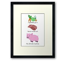 Pigs. The Ultimate Machine. Framed Print