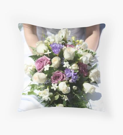 Bride's Bouquet Throw Pillow