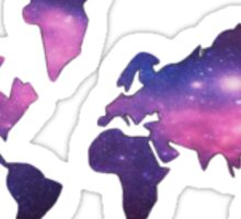 Galactic Continents Sticker