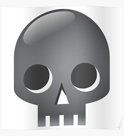 Grey skull Poster