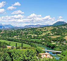 Rural Alpes-de-Haute-Provence in the Summer by atomov