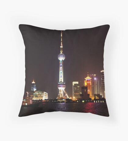Oriental Pearl Throw Pillow