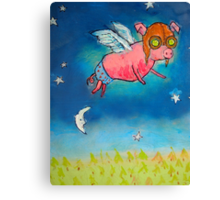 Hammy Over the Moon Canvas Print