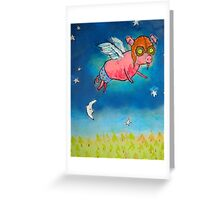 Hammy Over the Moon Greeting Card