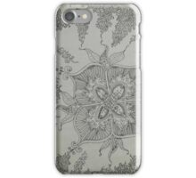 Black ink drawing iPhone Case/Skin
