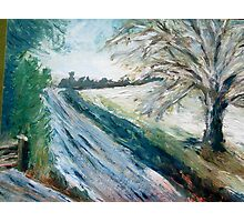 Winter Lane in Kent Photographic Print