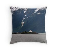 Eldred Rock Lighthouse - Another View Throw Pillow