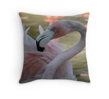 Portrait in Pink Throw Pillow