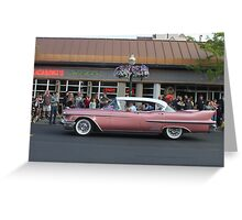 1958 Pink Cadillac  Greeting Card