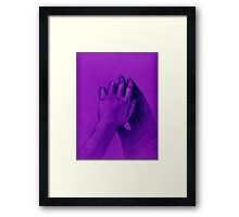 hand with shadow Framed Print