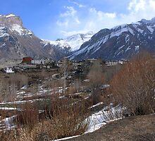 Himalayan Town Of Muktinath by aidan  moran