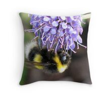 Bumble Bee by Loch Ness Throw Pillow