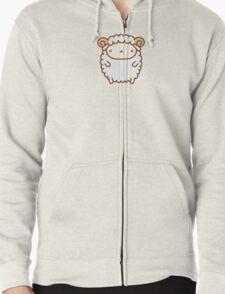 Cute Sheep Zipped Hoodie
