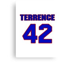 National football player Terrence Holt jersey 42 Canvas Print