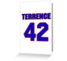 National football player Terrence Holt jersey 42 Greeting Card