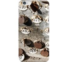 Plates with Numbers iPhone Case/Skin