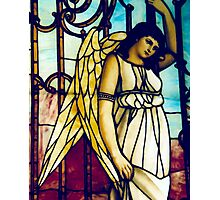 Angel - Stained Glass Photographic Print
