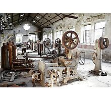 Rusty Machinery Photographic Print