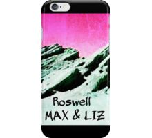 roswell tv show pink sky Max & Liz iPhone Case/Skin
