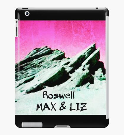 roswell tv show pink sky Max & Liz iPad Case/Skin