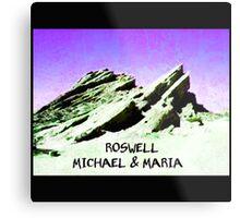 roswell tv show purple sky Michael & Maria Metal Print