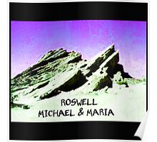 roswell tv show purple sky Michael & Maria Poster