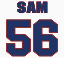 National football player Sam Anno jersey 56 by imsport