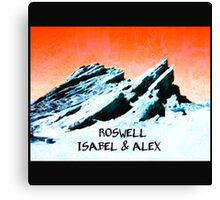 roswell tv show Orange sky Isabel & Alex Canvas Print