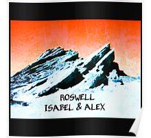 roswell tv show Orange sky Isabel & Alex Poster