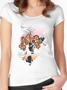 Funky Dollie Bloom Hair Women's Fitted Scoop T-Shirt