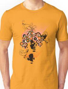 Funky Dollie Bloom Hair Unisex T-Shirt