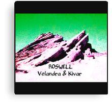 roswell tv show Green sky Velandra & Kivar Canvas Print