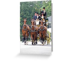 Tub Carriage & Horses Greeting Card