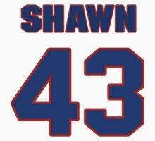 National football player Shawn Loiseau jersey 43 by imsport