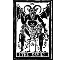 The Devil Tarot card by Shayne of the Dead Photographic Print
