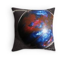 And the World Moves Silently in Space Throw Pillow