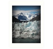 Glacier scene Art Print