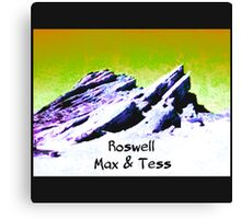 roswell tv show Yellow Sky Max & Tess Canvas Print