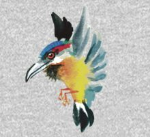 Watercolor Brush Stroke Kingfisher by HiddenStash