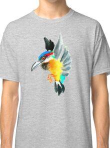 Watercolor Brush Stroke Kingfisher Classic T-Shirt