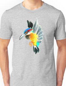 Watercolor Brush Stroke Kingfisher Unisex T-Shirt