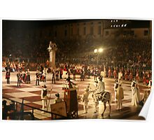 Marostica Chess Game Poster